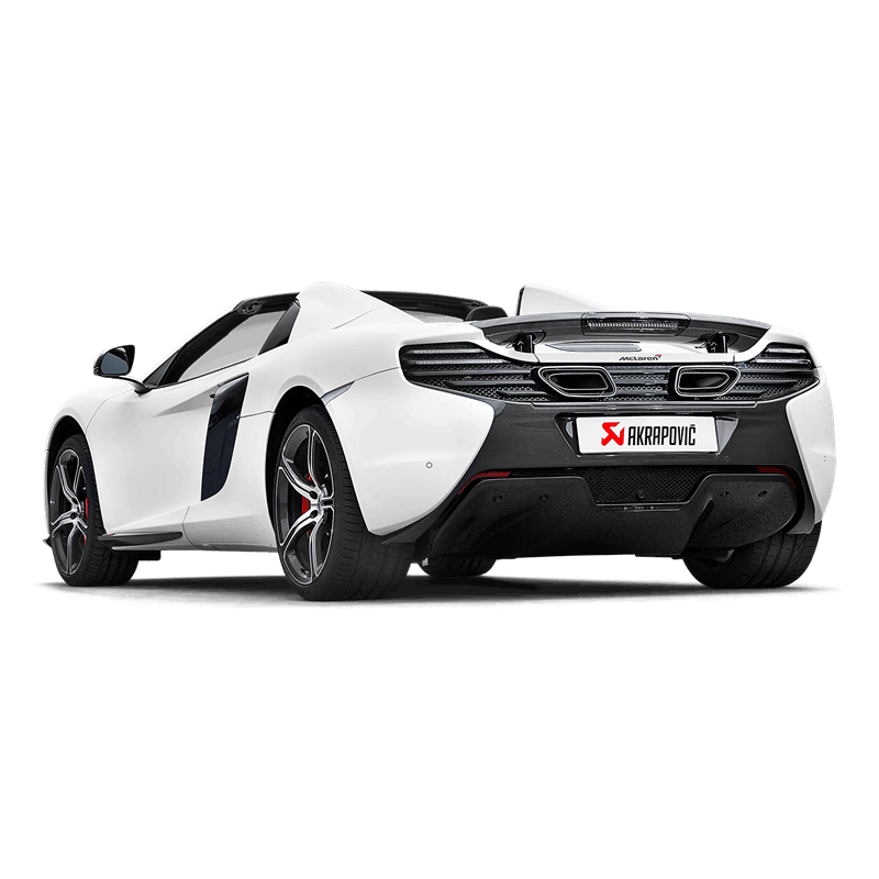 McLaren 650/650S Spider Akrapovic Slip On Titanium Exhaust