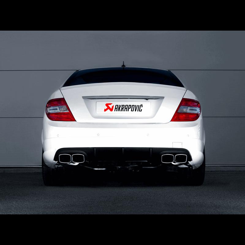 Mercedes C63 AMG Coupe Evolution Line Titanium Exhaust System